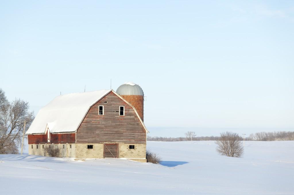 Wintertime Barn