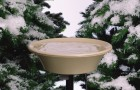 "14"" Heated Bird Bath with EZ-Tile Deck and Pole Mount"
