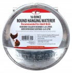 Galvanized Round Hanging Poultry Waterer