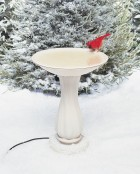 Heated Bird Bath with Pedestal