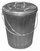 10 Gallon Galvanized Garbage Can