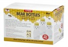 12 Ounce Plastic Bear Bottle case of 12 bottles with lids