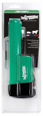 Green Handle Rechargeable Battery in Clam Shell