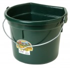 22 Quart Flat Back Plastic Bucket w/Knob Bail