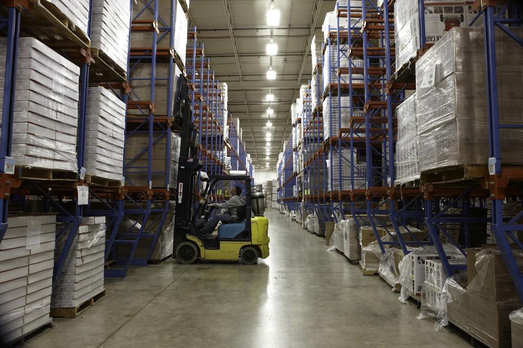Forklift operation at Miller's Glencoe, MN facility.