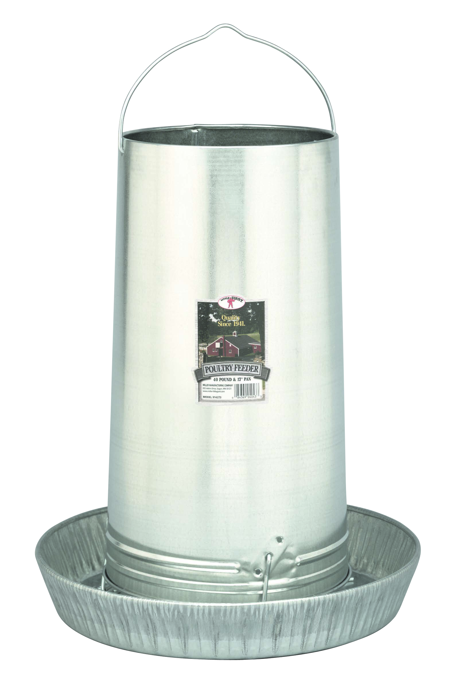 Miller-mfg com 40-Pound Hanging Metal Poultry Feeder - 914273
