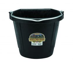 20 Quart Flat Back Rubber Bucket