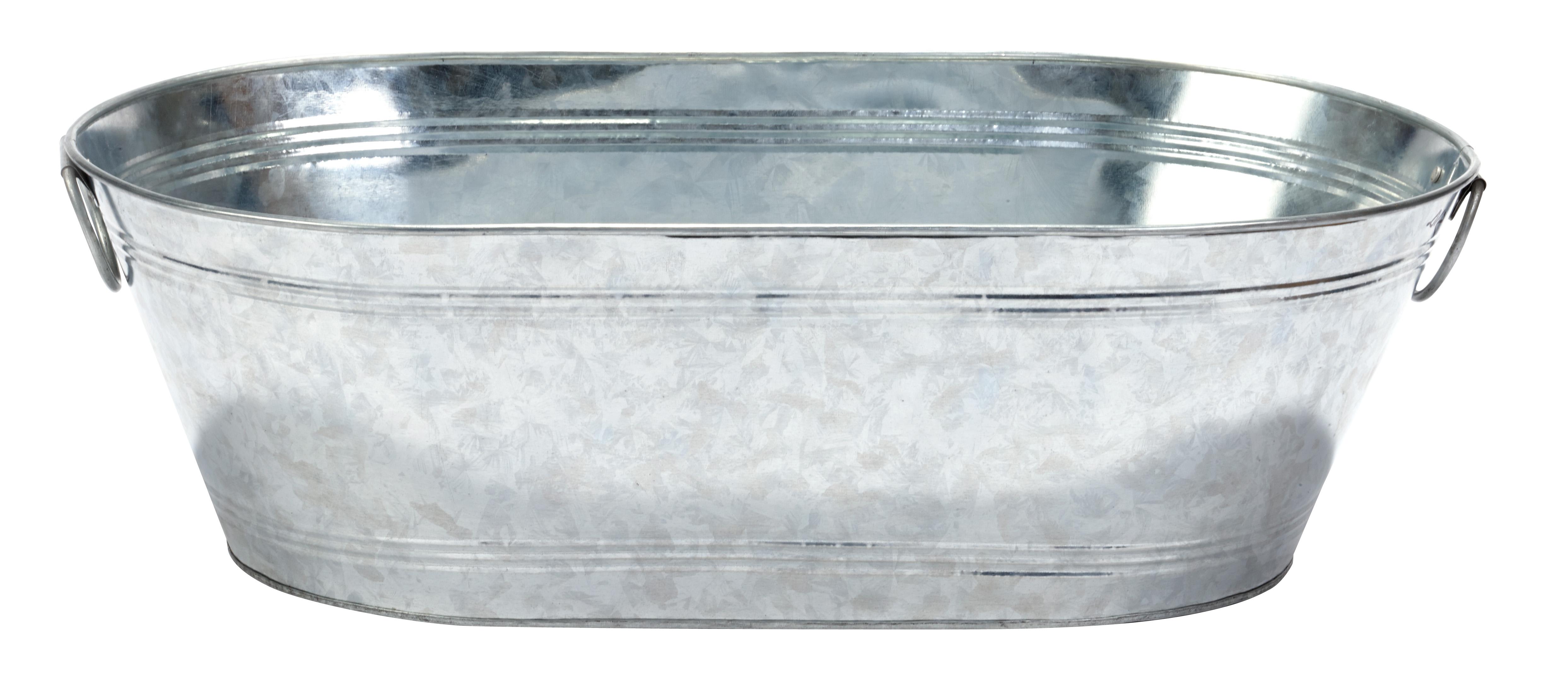 10 5 Gallon Galvanized Oval Tub